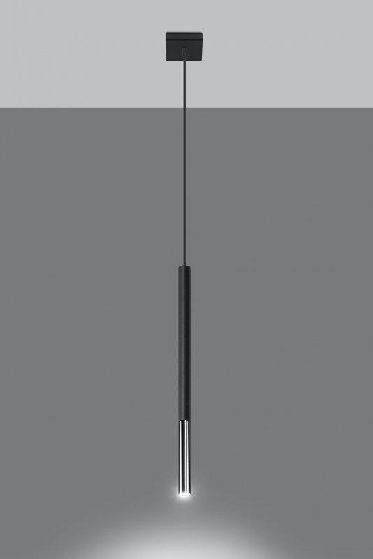 Lampa wisząca MOZAICA 1 czarny/chrom