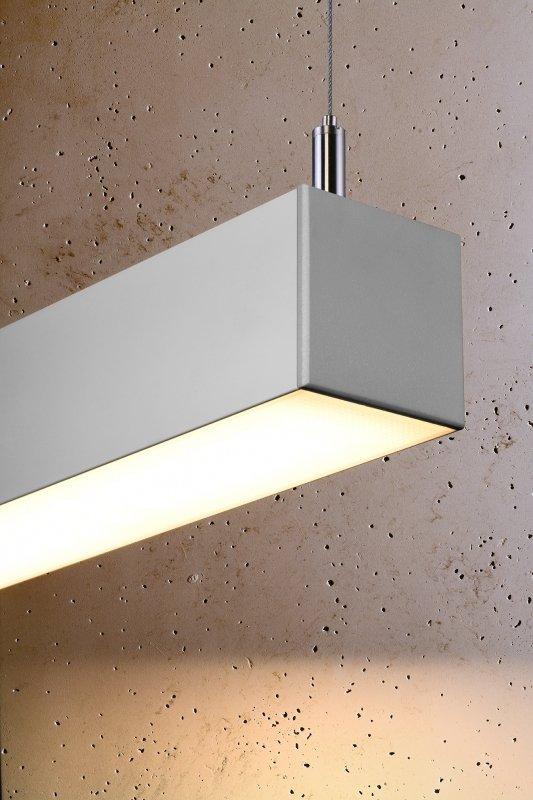 Lampa wisząca PINNE 150 szara 3000K