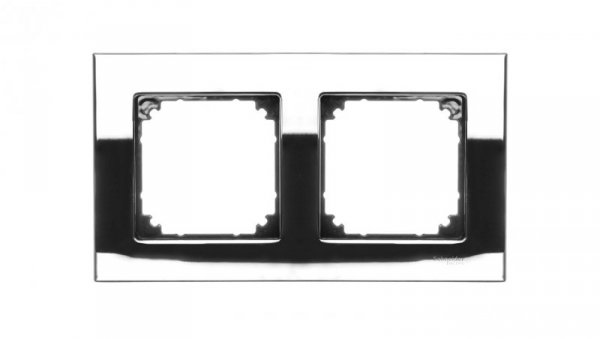 Merten M-Elegance Ramka podwójna metalowa chrom MTN403239