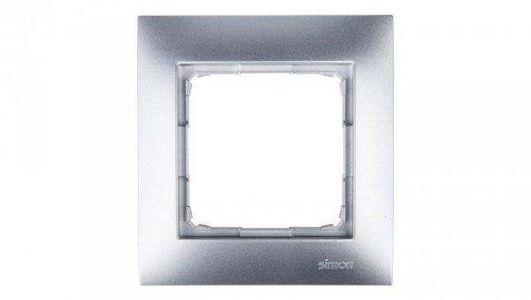 Simon 54 Premium Ramka pojedyncza srebrny mat DR1/43