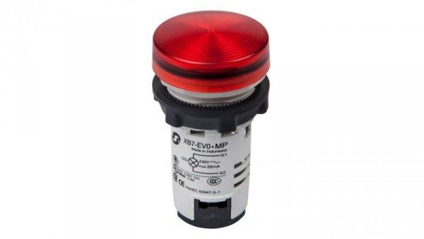 Lampka sygnalizacyjna 22mm czerwona 230-240V AC LED XB7EV04MP