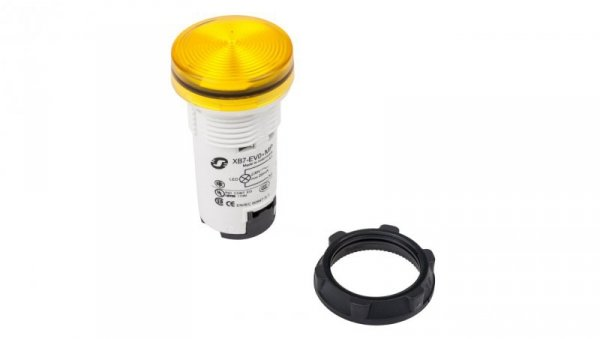 Lampka sygnalizacyjna 22mm żółta 230V AC XB7EV05MP