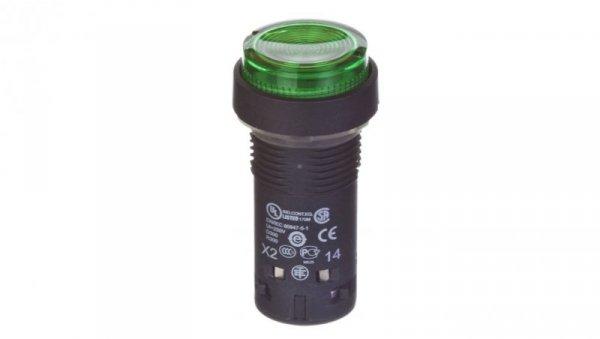 Przycisk sterowniczy 22mm zielony 1Z z samopowrotem z podświetleniem 230V AC XB7NW33M1