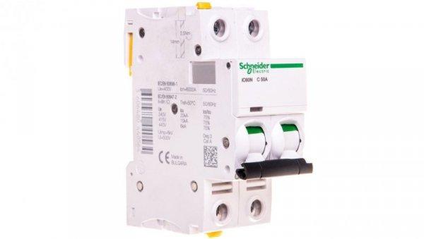 Wyłącznik nadprądowy 2P C 50A 6kA AC iC60N-C50-2 A9F04250