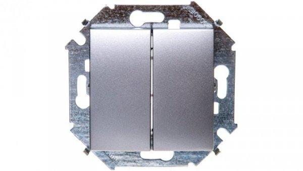 Simon 15 Łącznik schodowy podwójny aluminium metalizowane 1591397-026