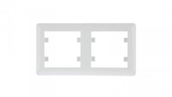 LUMINA2 Ramka podwójna pozioma biała WL5220