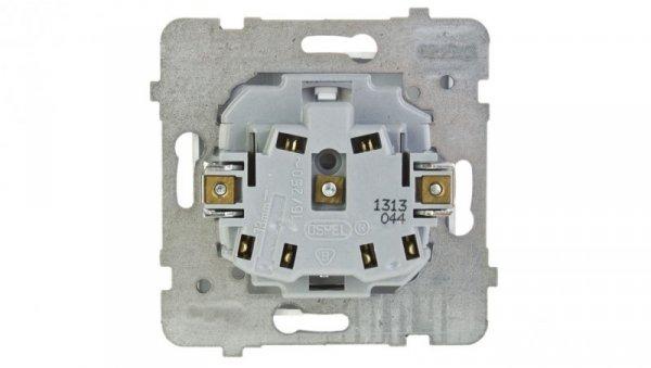 AS Gniazdo pojedyncze b/u białe GP-1G/m/00