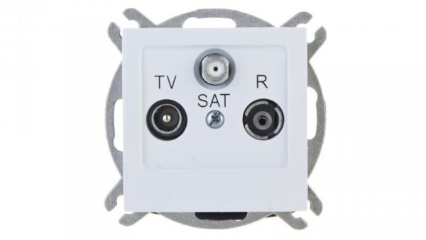 AS Gniazdo antenowe RTV-SAT końcowe białe GPA-GS/m/00