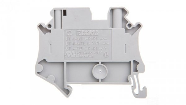 Złączka szynowa 2-przewodowa rozłączna 0,14-6mm2 szara UT 4-TG-P/P 3046168