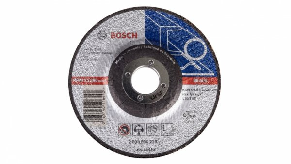 Tarcza ścierna wygięta do metalu A 30 T BF 125x6x22mm 2608600223 /5szt./