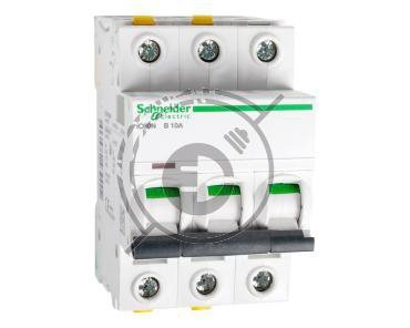 Wyłącznik nadprądowy 3P B 10A 6kA AC iC60N-B10-3 A9F03310