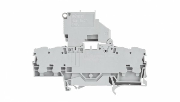 Złączka bezpiecznikowa 2,5mm2 szara 5x20mm 2002-1811 TOPJOBS
