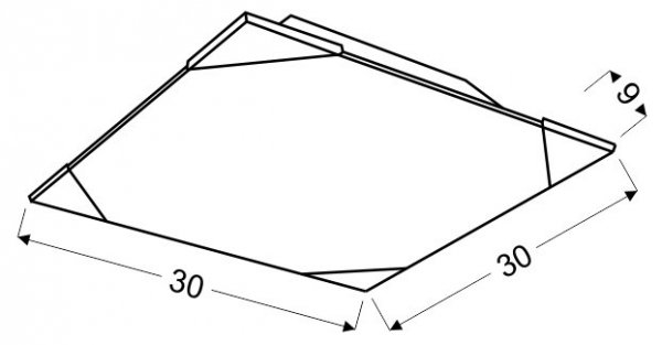 ASTON PLAFON 30X30 2X60W E27