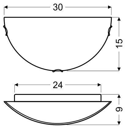 PLAFON 1/2 1X60W E27 GRECKI BIAŁY / BRĄŻ