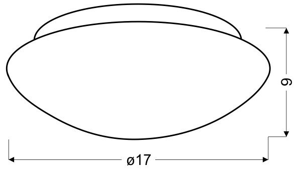 NINA PLAFON BIAŁY 175MM 1X60W E27