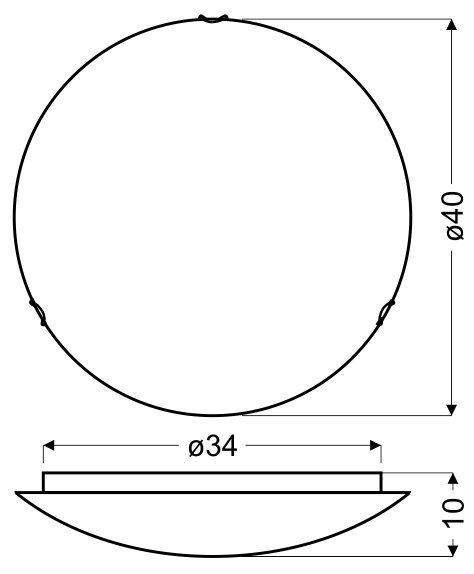 GALEO PLAFON 40 1X60W E27