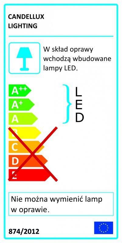ACRYLIC LED KINKIET 2X2W LED CHROM TRANSPARENT