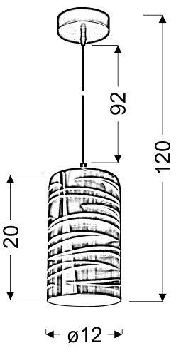 GALACTIC 3 ZWIS 12 1X60W E27 3D