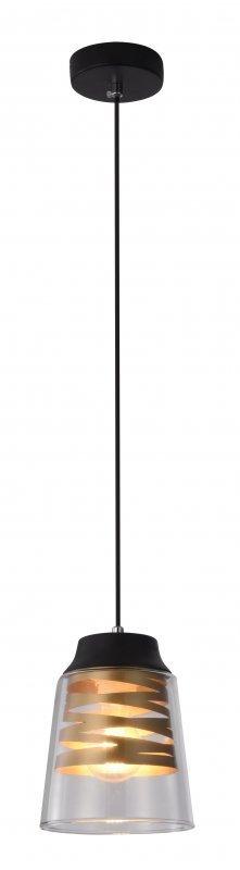 FRESNO LAMPA WISZĄCA CZARNY 1X60W E27 KLOSZ BEZBARWNY
