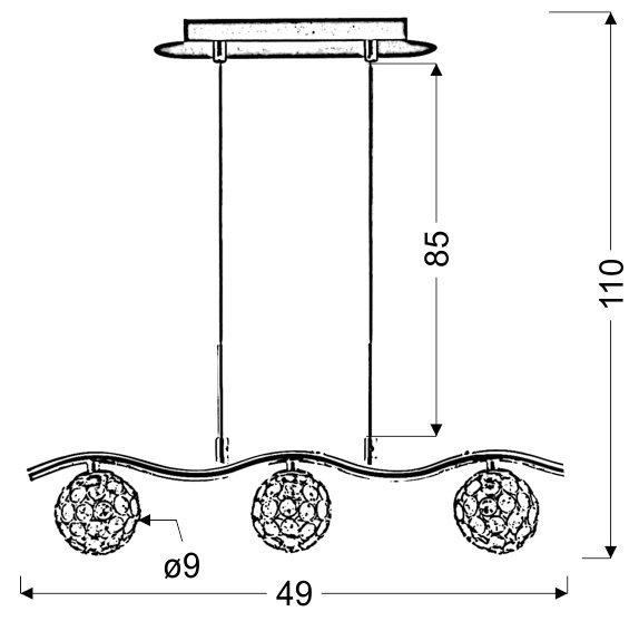 STARLET ZWIS 3X40W G9 CHROM/TRANSPARENT