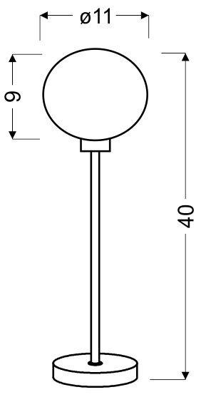 SPHERE LAMPKA GABINETOWA 1X40W G9 CHROM