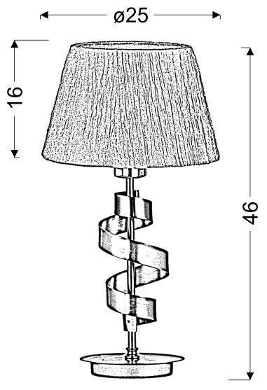 DENIS LAMPKA GABINETOWA 1X60W E27 CHROM/ZŁOTY + ABAŻUR O TYM SAMYM INDEKSIE