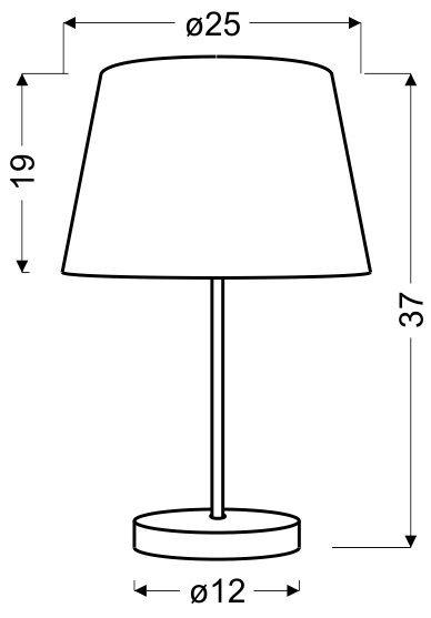 PABLO LAMPKA GABINETOWA 1X60W E27 POMARAŃCZOWY