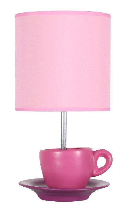 CYNKA LAMPKA GABINETOWA 1X60W E27 RÓŻOWY