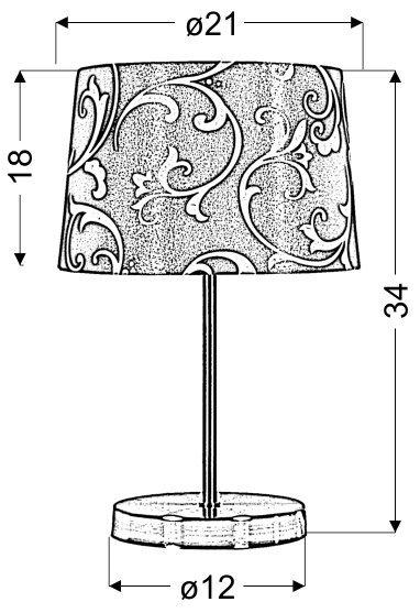 AROSA LAMPKA 1X40W E14 NIEBIESKI