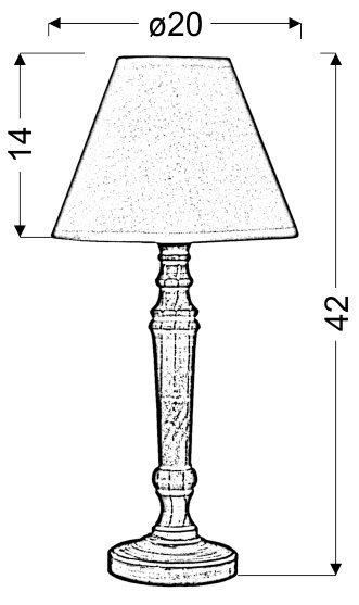 FOLCLORE 3 LAMPKA GABINETOWA H-42 1X40W E14 BIAŁA