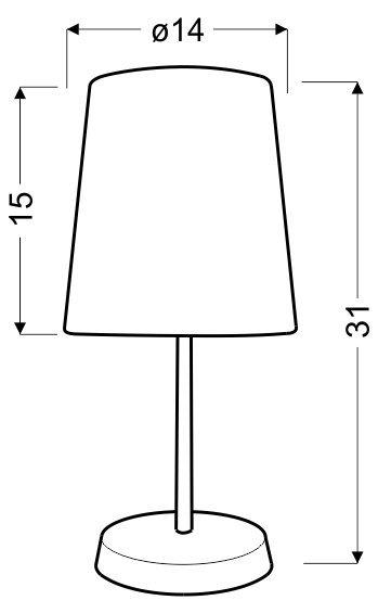 GALA LAMPKA 1X40W E14 FIOLETOWA