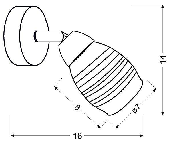 JUBILAT KINKIET 1X10W E14 LED CHROM