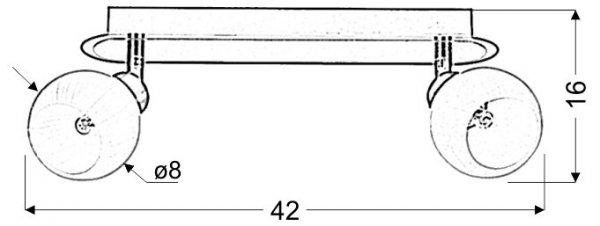 ALABASTER LISTWA 2X40W G9 SATYNA+CHROM
