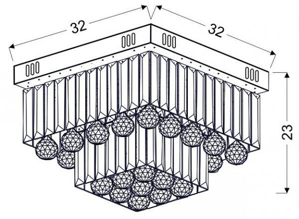 CARMINA PLAFON 18W LED CHROM