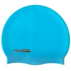 Czepek Aqua-Speed silikon Mega senior niebieski