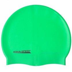 Czepek Aqua-Speed silikon Mega senior zielony
