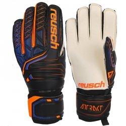 Rękawice bramkarskie Reusch Attrakt SG Finger Support 50 70 810 7783 czarny 7,5