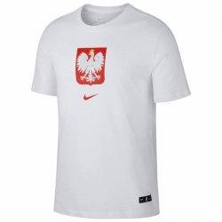 Koszulka Nike Poland Tee Evergreen Crest CU9191 100 biały M
