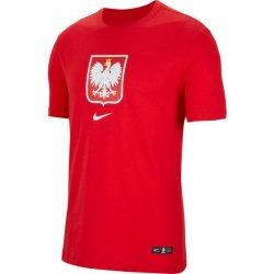 Koszulka Nike Poland Tee Evergreen Crest CU9191 611 czerwony M