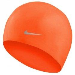 Czepek silikonowy Nike YOUTH TESS0106 618 junior pomarańczowy
