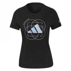 Koszulka adidas Run Logo W 2 GV1350 czarny XS