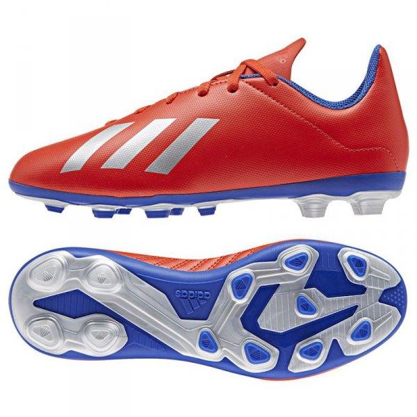 Buty adidas X 18.4 FXG J BB9379 czerwony 38 2/3