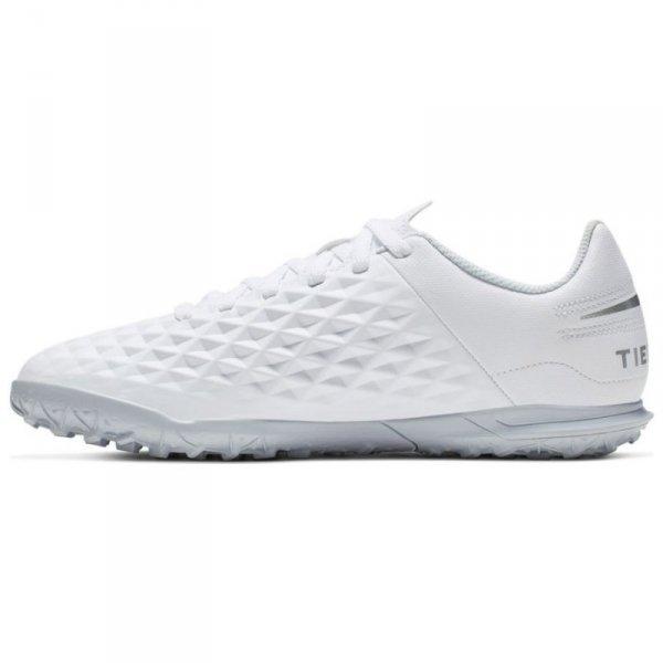 Buty Nike JR Tiempo Legend 8 Club TF AT5883 100 biały 33
