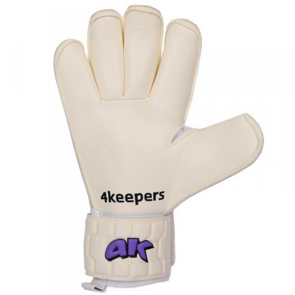 Rękawice 4keepers Champ Purple IV RF + płyn czyszczący biały 8,5