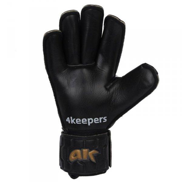 Rękawice 4keepers Champ Black Gold IV RF + płyn czyszczący czarny 11