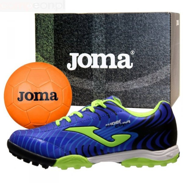 Buty Joma Super Copa JR 2004 TF SCJS.2004.TF + Piłka Gratis niebieski 33