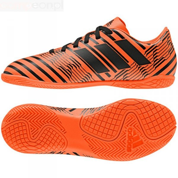 Buty adidas Nemeziz 17.4 IN J S82467 pomarańczowy 28