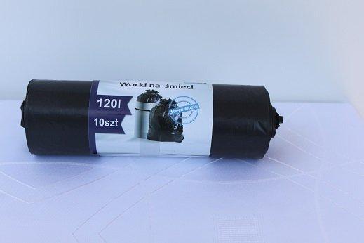 WORKI NA ŚMIECI LDPE 120L CZARNE A10
