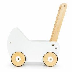 Drewniany wózek dla lalek pchacz chodzik ECOTOYS