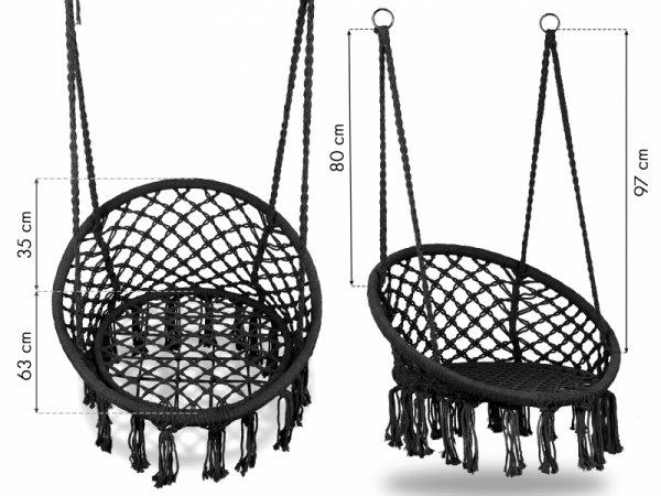 Fotel wiszący huśtawka ogrodowa